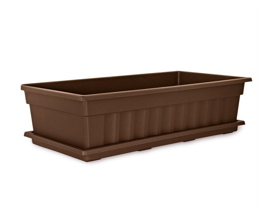 Ящик для рассады и цветов с поддоном «Домашняя грядка» шоколадный | Арт. М501Ш - без поддона<br />Арт. М502Ш - с поддоном